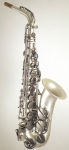 SYSTEM-54- Eb Alto Saxophon, Vintage Silver Power Bell-R,